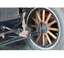 timber car wheel Photographic Print
