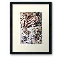 His Contemplation Framed Print