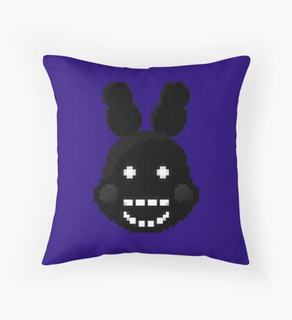Five Nights at Freddy's 2 - Pixel art - Shadow Bonnie Throw Pillow