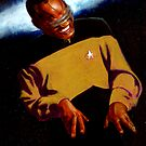 Ray Charles as Geordi La Forge by Sheffield Abella