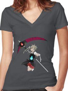 soul eater maka albarn soul anime manga shirt Women's Fitted V-Neck T-Shirt