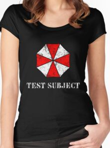 Umbrella Corporation Test Subject Women's Fitted Scoop T-Shirt