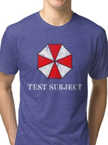Umbrella Corporation Test Subject Tri-blend T-Shirt