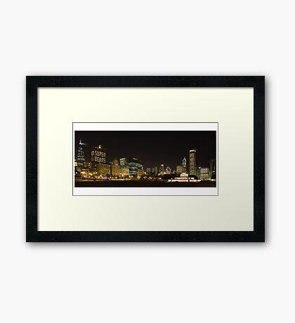 Chicago Bears  in the Chicago Skyline Framed Print