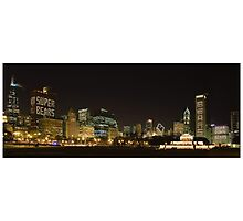 Chicago Bears  in the Chicago Skyline Photographic Print