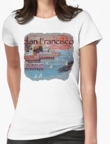Port of San Francisco Womens Fitted T-Shirt
