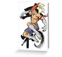 Street Fighter Adon Greeting Card