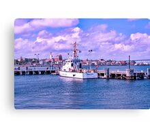 The Albacore At USCG Station New London Canvas Print