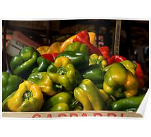 Colourful Capsicums Poster