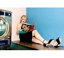 Laundry day, waiting waiting... Photographic Print