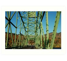 Lime Green Bridge Art Print