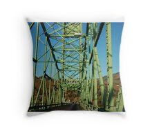 Lime Green Bridge Throw Pillow