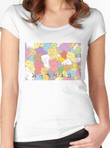 Mitchiri neko Women's Fitted Scoop T-Shirt