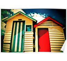 Boxes by the sea - Mornington Poster