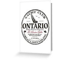 Ontario Sailing Greeting Card