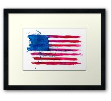 Watercolor Flag of the USA Framed Print