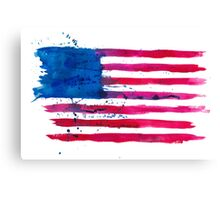 Watercolor Flag of the USA Canvas Print