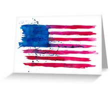 Watercolor Flag of the USA Greeting Card