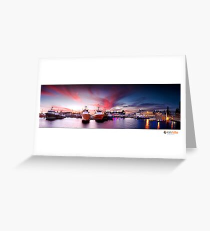 Fremantle Fishing Boat Harbor Greeting Card