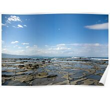 Untitled- Rocky Beachscape Poster
