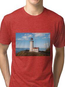 North Head Lighthouse, Cape Disappointment, Washington Tri-blend T-Shirt