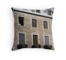 Old Quebec City Building Throw Pillow