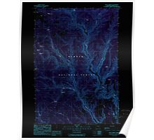USGS Topo Map Oregon Buck Spring 279171 1990 24000 Inverted Poster