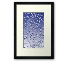 Helicopter Seed in Blue Framed Print
