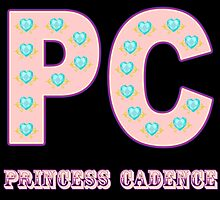 My little Pony - Initials Princess Cadence - Black by ariados4711