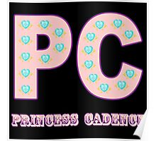My little Pony - Initials Princess Cadence - Black Poster