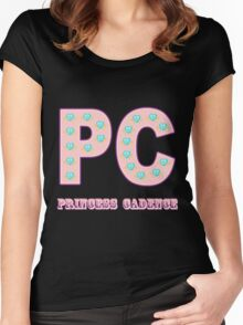 My little Pony - Initials Princess Cadence - Black Women's Fitted Scoop T-Shirt
