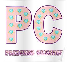 My little Pony - Initials Princess Cadence - White Poster
