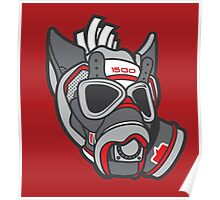 Wolf Gas Mask HQ Poster