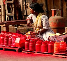 Red Paint (Kolkata) by BGpix