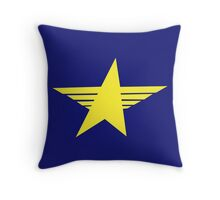 Sharp yellow military star Throw Pillow