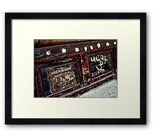 Rickshaw Rego Framed Print