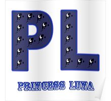 My little Pony - Initials Princess Luna - White Poster