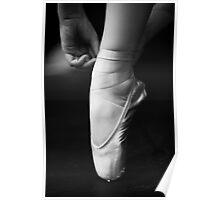 Tying ballet shoe Poster