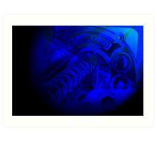 Deep Blue Arcade Art Print