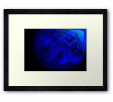 Deep Blue Arcade Framed Print
