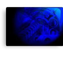 Deep Blue Arcade Canvas Print