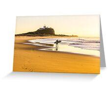 Nobbys Beach Surfer Greeting Card