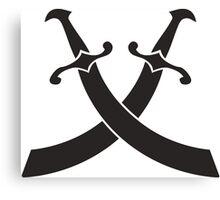 pirat saber sword icon  Canvas Print