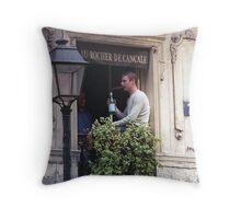 Paris  - Rue Montergueil Throw Pillow