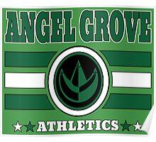 Angel Grove Athletics - Green Poster