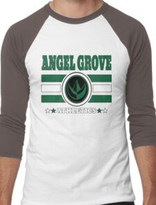 Angel Grove Athletics - Green Men's Baseball ¾ T-Shirt