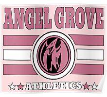 Angel Grove Athletics - Pink Poster