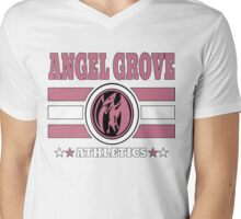 Angel Grove Athletics - Pink Mens V-Neck T-Shirt