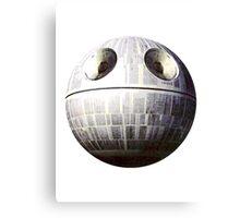 Sad Death Star Canvas Print