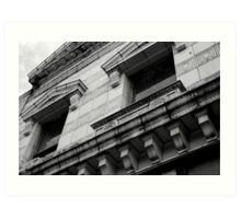 Concrete Dignity - Building in downton Edenton, NC Art Print